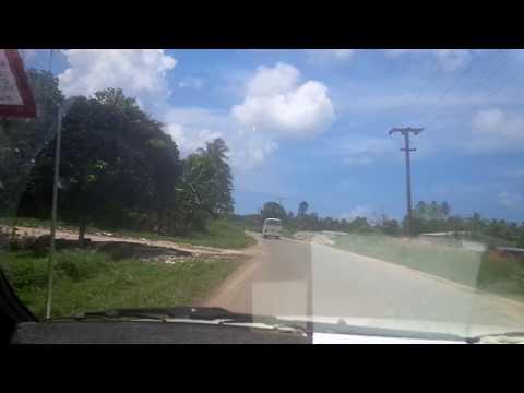Driving from Lombrum to Lorengau Papua New Guinea Manus Island