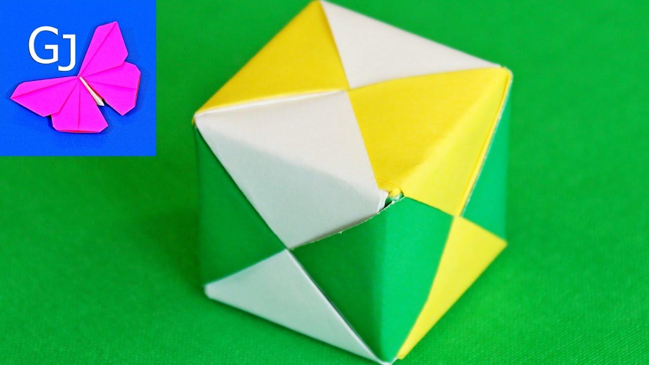 Как сделать из бумаги кубик который меняет лицо 63