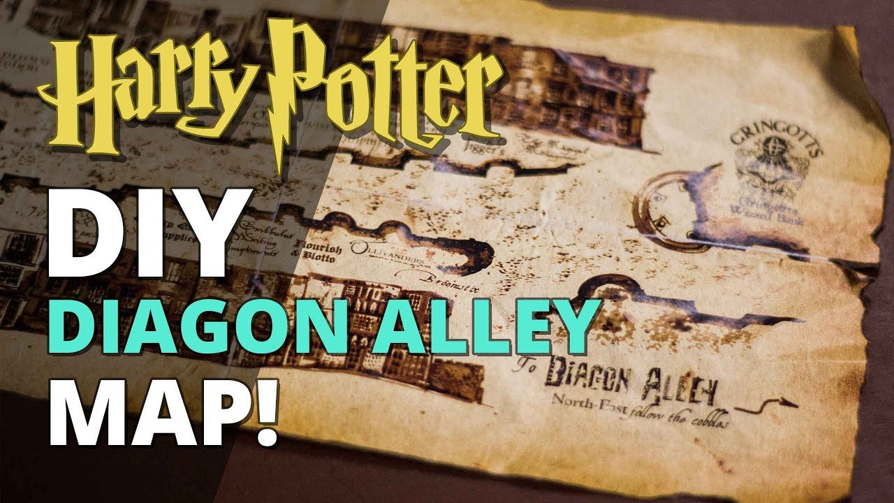 Diy Diagon Alley Map
