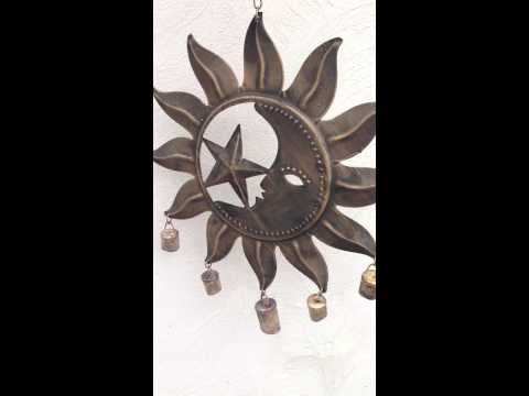 Moon Sun & Star Rustic Wind Chime - Available At Eclectic Artisans