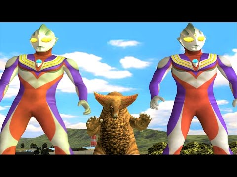 Sieu Nhan Game Play | 2 Ultraman Tiga đánh bại 5 quái vật siêu mạnh | Game Ultraman Fe3