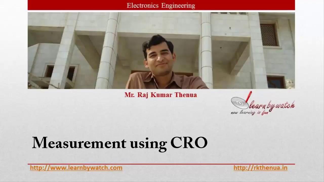 Measurement Using Cro Hindi Urdu Electronics Engineering By Raj Of Electrical Quantities With A Kumar Thenua