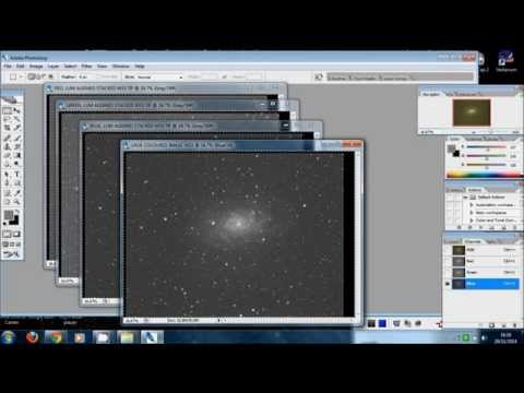 How to convert mono grey images in LRGB colour images by using Photoshop