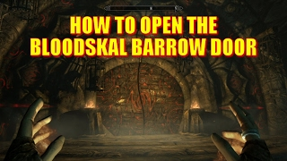 Skyrim Remastered - How to Open the Bloodskal Barrow Door (Raven Rock Mine Bloodskal Blade Puzzle)