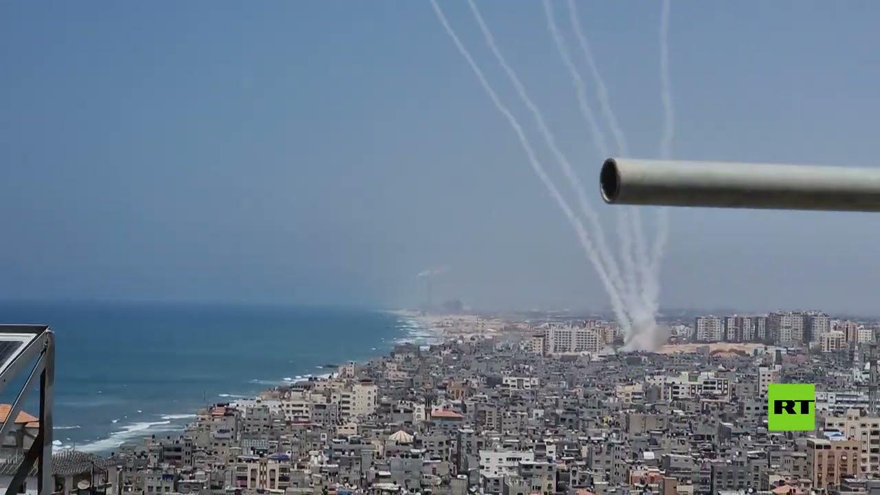 إطلاق صواريخ من غزة تزامنا مع الغارات الإسرائيلية  - نشر قبل 3 ساعة