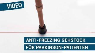 Produktvideo zu Anti-Freezing Gehstock für Parkinson-Patienten Ossenberg mit Laser-Licht Bronze