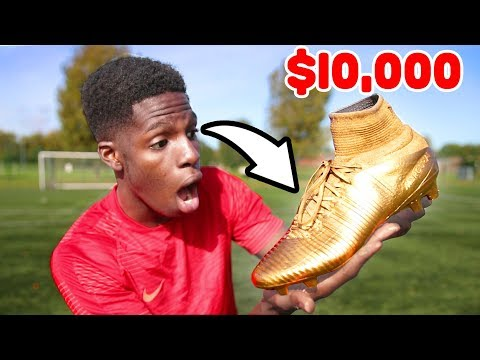 Download Youtube: GOLDEN $10,000 FOOTBALL Boots! SHOOT Like Cristiano RONALDO