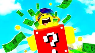 I opened INFINITY GODLY LUCKY BLOCKS... CAN I BEAT THE TOP PLAYER? (Roblox)
