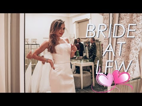 TRYING ON WEDDING DRESSES AND BEING DECEIVED AT LFW | Whitney's Wonderland