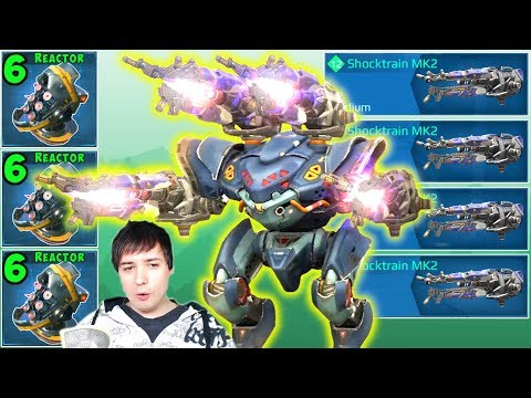 War Robots  - MAX Damage SHOCKTRAIN SPECTRE Mk2 Gameplay WR