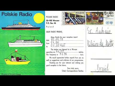 Radio Warsaw 7270 kHz - Warsaw (Poland) Sign On in English -