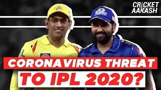 CORONAVIRUS threat to IPL 2020?   Cricket Aakash   IPL 2020 News