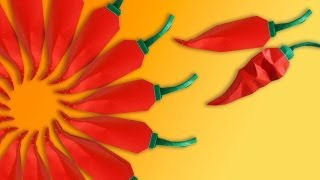 Make an Origami Hot Pepper to Commemorate Wilbur Scoville