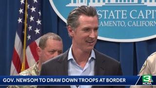 Gov. Gavin Newsom speaks on drawing down border troops
