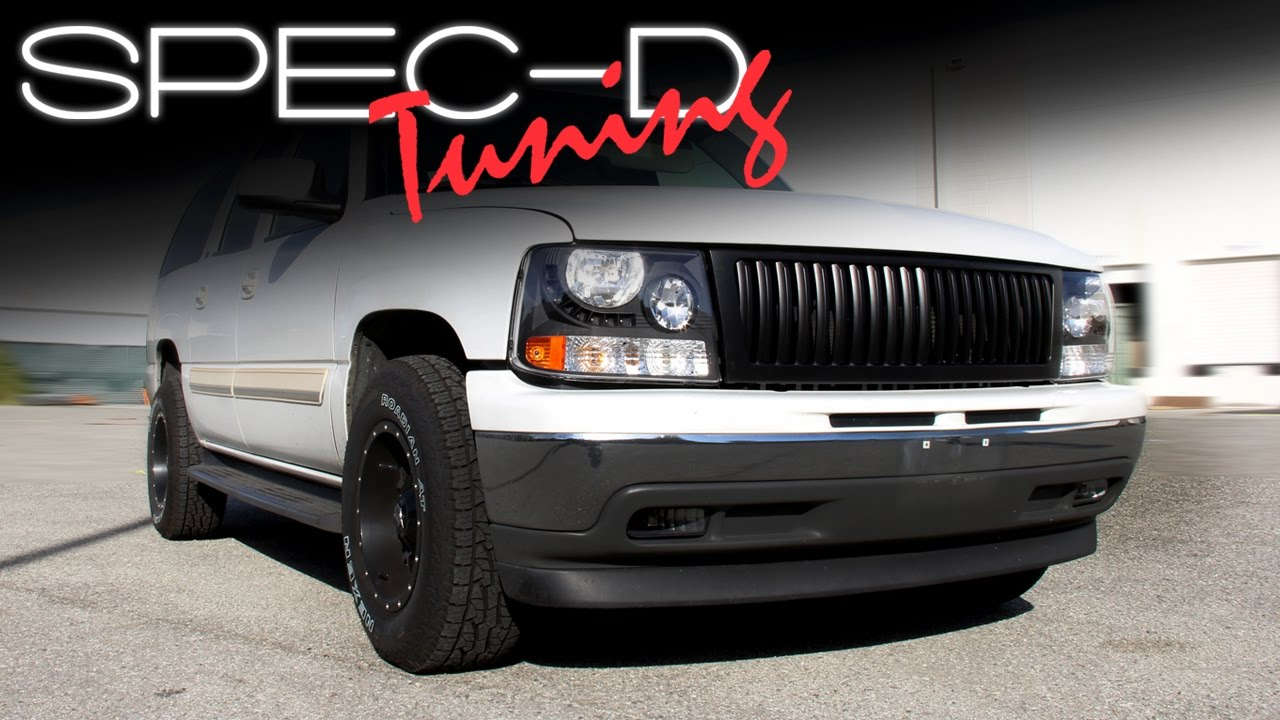 Specdtuning Installation Video 2000 2006 Chevy Suburban 1500 2500 Headlights And Grille You