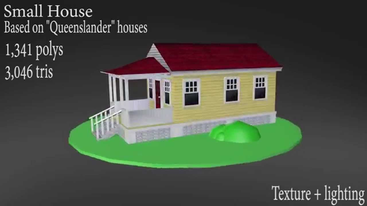 Small 3D House Turn-around - I made a house for my last assignment for my foundations of 3D class! :0 I wanted to import it into Feral Heart, but FH seems to have a bigger love for Blender