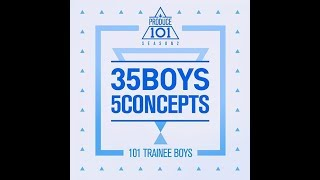 full album produce 101 season 2 35 boys 5 concepts