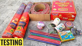 Testing new and different types of Diwali fireworks 2019  CRACKERS KING