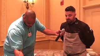 Chef Demo at Doubletree Detroit | How to prepare seared pork belly with a sweet potato puree