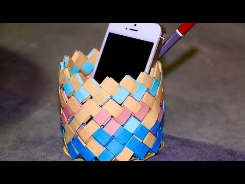 DIY Crafts Tutorial - How to Make Pen Stand  | Paper Pen Holder Making Step By Step.