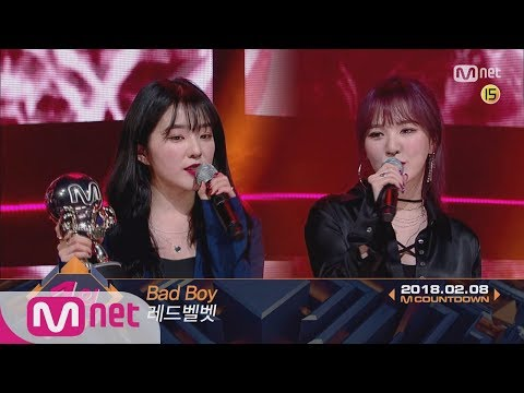 Top in 2nd of February, 'Red Velvet' with 'Bad Boy', Encore Stage! (in Full) M COUNTDOWN 180208 EP.5