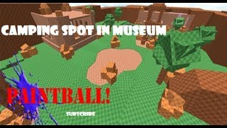 Roblox Paintball: Camping Spot in Museum (Behind Small Bench)
