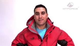 Куртка пуховик зимний мужской коричневый, черный, красный цвет 9421