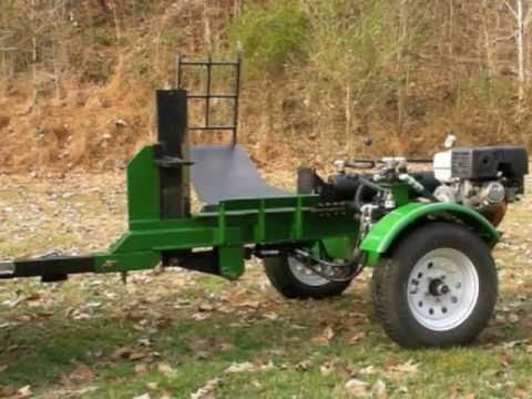 Homemade 30 Ton Log Splitter With Log Lift And Adjustable