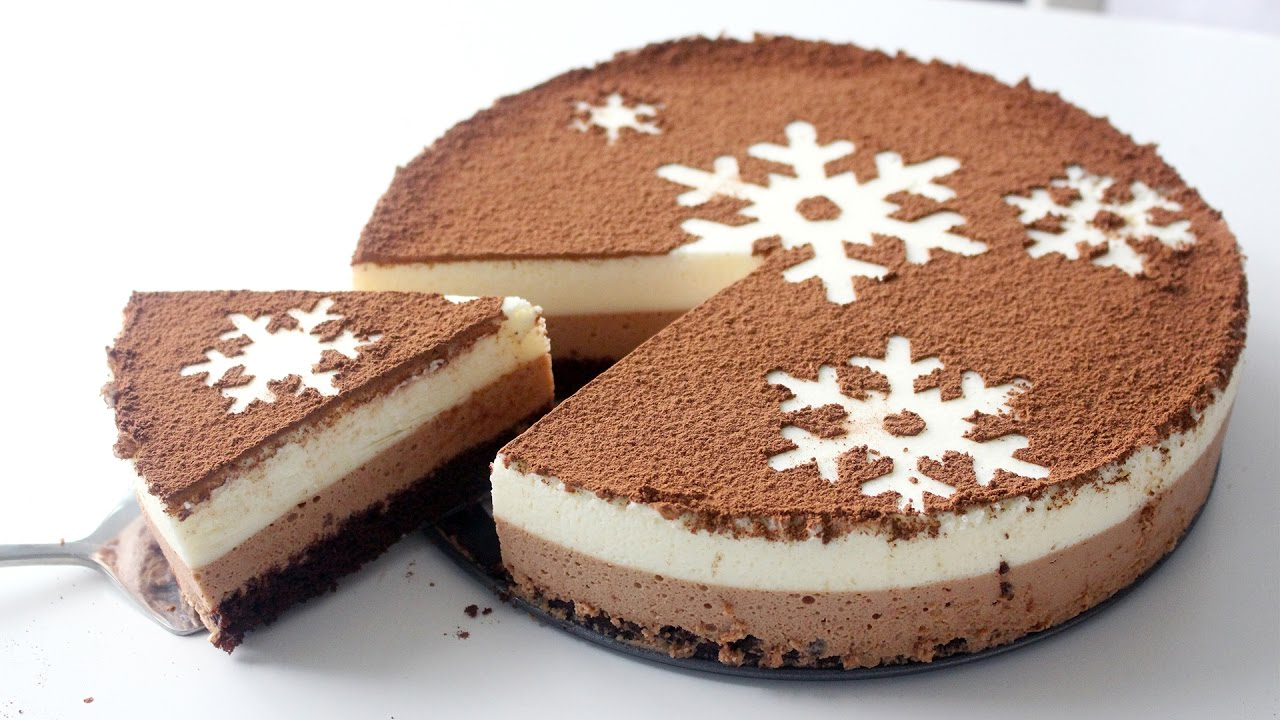 Chocolate Snowflake Mousse Cake Recipe Youtube