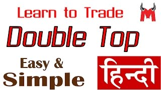 Double Top Chart Pattern Hindi - Price Action Series