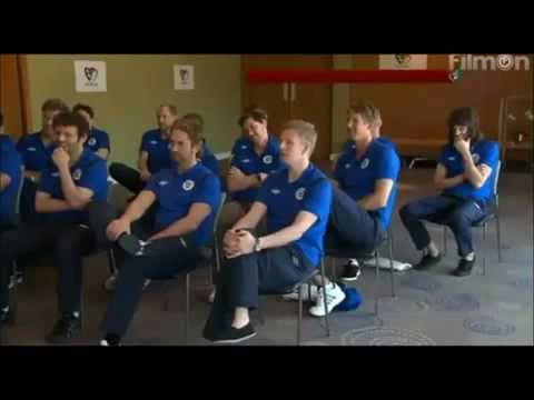 Gerard Butler Soccer Aid 2012 Team Members.  Whoohoo for No.12.mp4