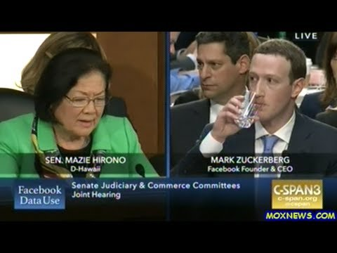 Mark Zuckerberg Answers Senators Questions On Facebook Data Collection On It's Users! Day 1 pt.2