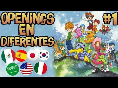 """Opening en Diferentes Idiomas de """"Digimon Adventure"""""""