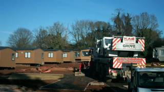 New 2017 Signature Caravans craned on at Whitehill Country Park