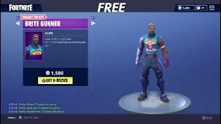 How to get the BRITE GUNNER SKIN FOR FREE! - Fortnite Battle Royale