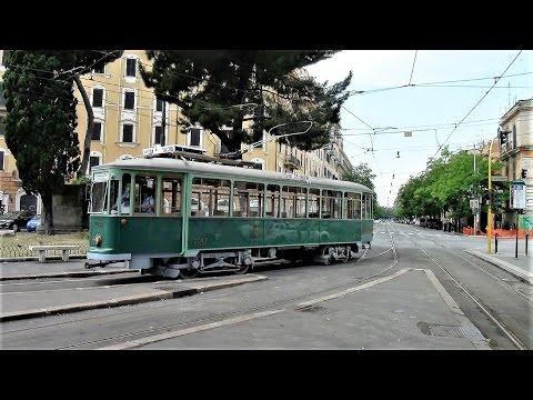 Rome Tram Scenes featuring Routes 5 & 14 -- 2014