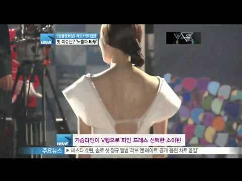 [Y-STAR] The key point of the red carpet of the blue dragon film award (청룡영화상 레드카펫 핫이슈는 '노출과 타투')