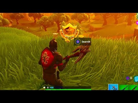 """""""Search Where The Stone Heads Are Looking"""" (Fortnite Season 5 Challenges)"""