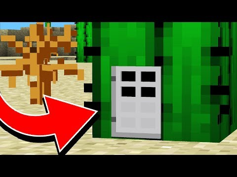 HOW TO LIVE INSIDE A CACTUS IN MINECRAFT!