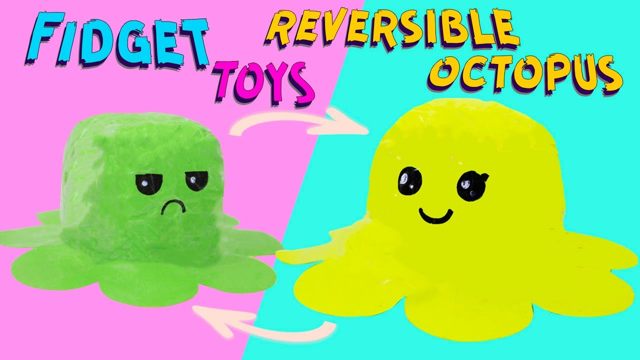 DIY Paper Squishy Flip Octopus Fidget Toy / how to make FIDGET TOY tik tok
