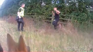 Police Dog Tracks Down Fleeing Criminal