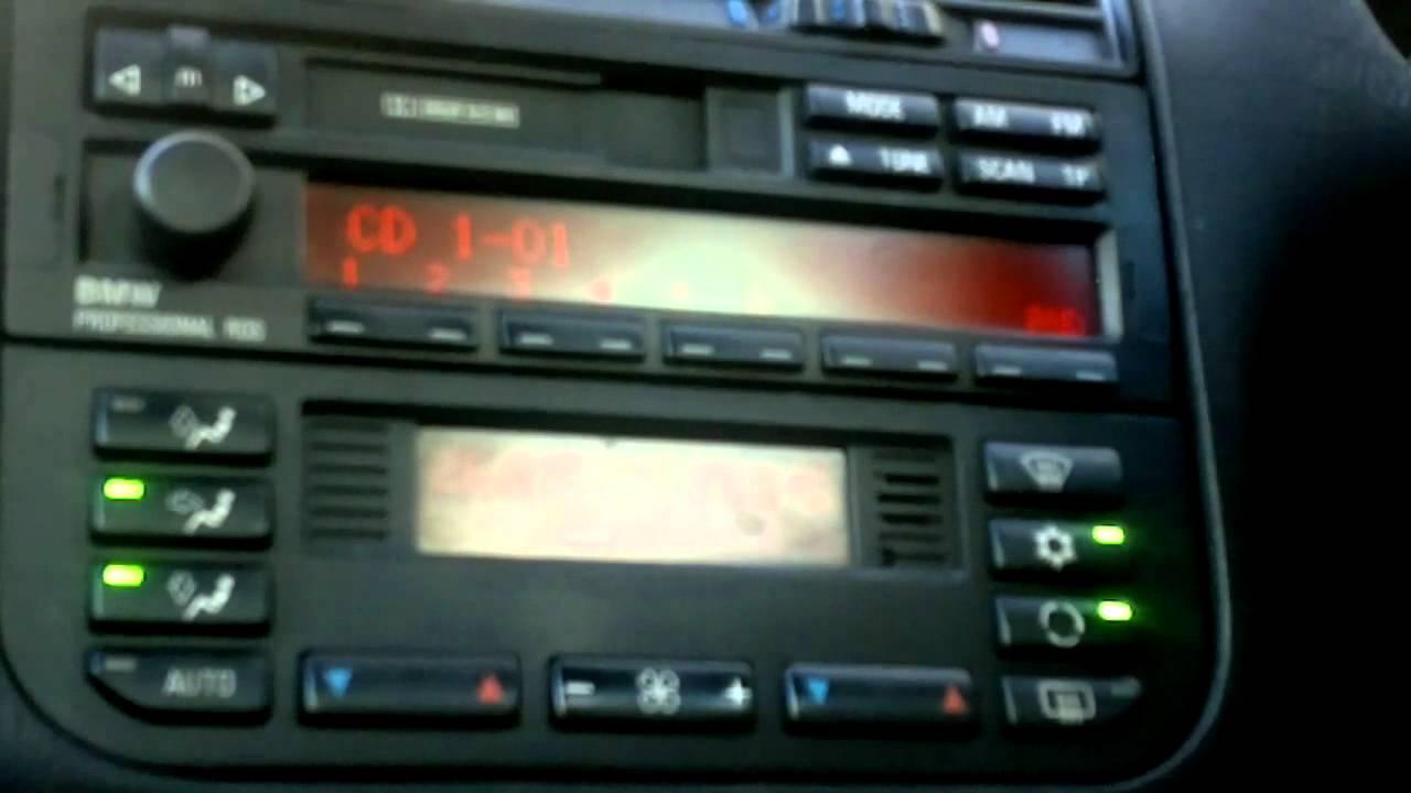 BMW Professional radio RDS  BMW E36  YouTube