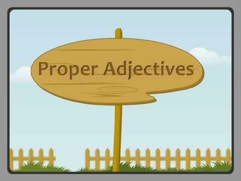 Proper Adjectives - Iken Edu