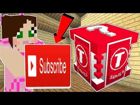 Minecraft: THE WORST LUCKY BLOCK IN HISTORY!!! (T-SERIES LUCKY BLOCK!) Mod Showcase