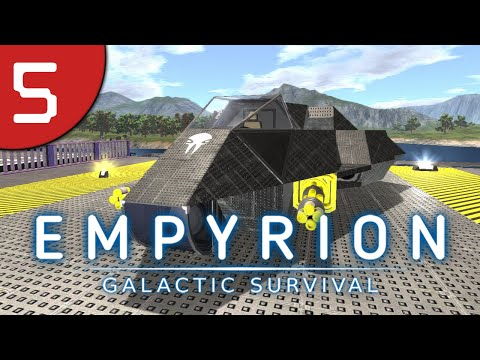 Empyrion #5 - First SV and Landing Platforms - Galactic Survival Let's Play