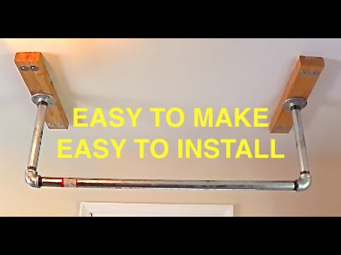 How To Build A Pull Up Bar For Your House Youtube