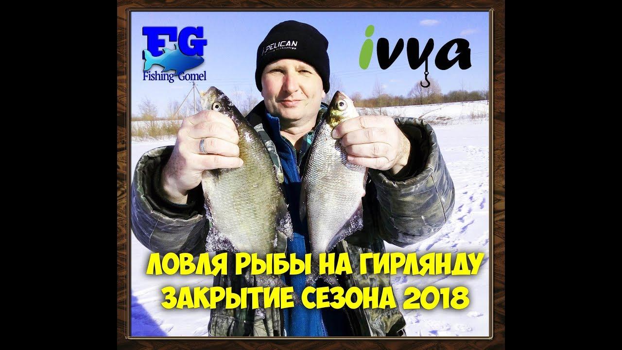Ловля рыбы на гирлянду зимой Закрытие сезона 2018