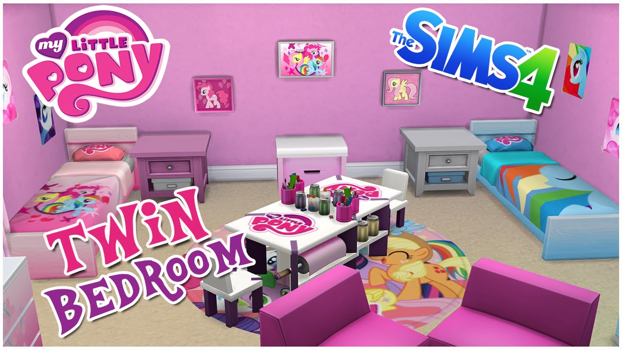 My Little Pony Themed Twin Bedroom || The Sims 4 Room Speed Build + CC Link    YouTube