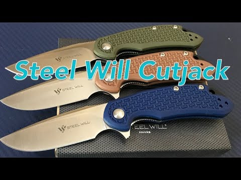 Steel Will Cutjack Knives C22M 3 inch D2 blade models made in China