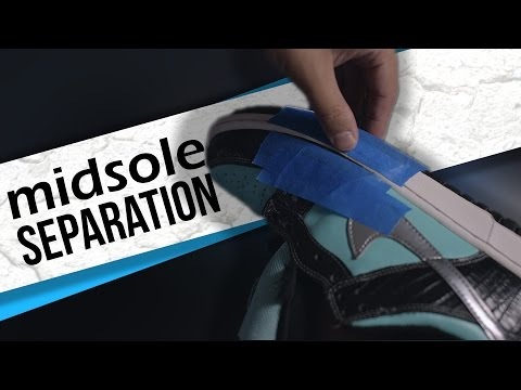 Fixing Midsole Separation on Nike Dunks